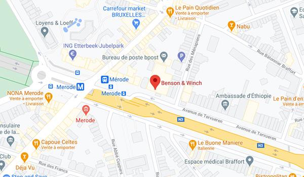 map : Avenue de Tervurenlaan 36-38, 1040 Brussels